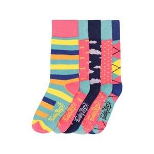Sada 5 párů barevných ponožek Funky Steps Miranda, vel. 35-39