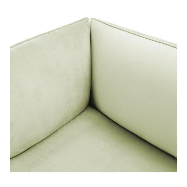 Světle zelený levý rohový modul pohovky Vivonita Velvet Cube
