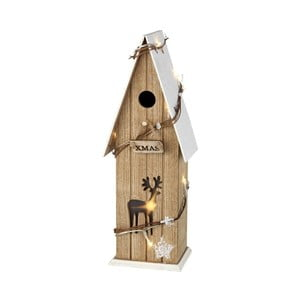 Dekorativní ptačí budka se světýlky Parlane Snow