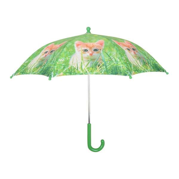 Zielona parasolka z nadrukiem kotka Esschert Design Animals