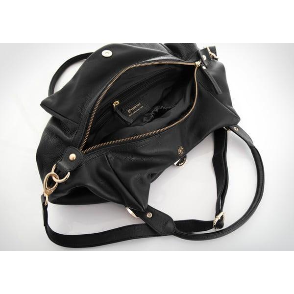 Kožená kabelka Valentini 422, černá