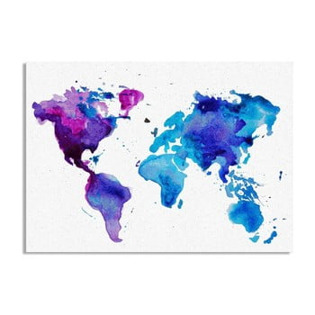 Tablou Really Nice Things Worldmap, 50 x 70 cm