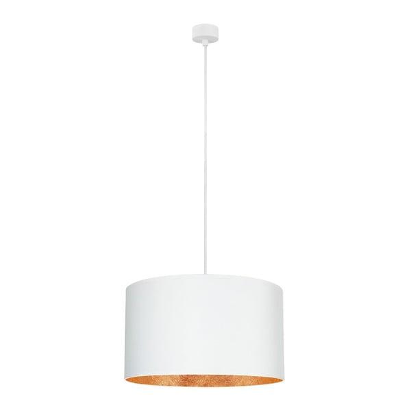 Bílé závěsné svítidlo s vnitřkem v měděné barvě Sotto Luce Mika, ⌀50cm