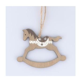 Set 5 decorațiuni din lemn în formă de căluț Dakls imagine