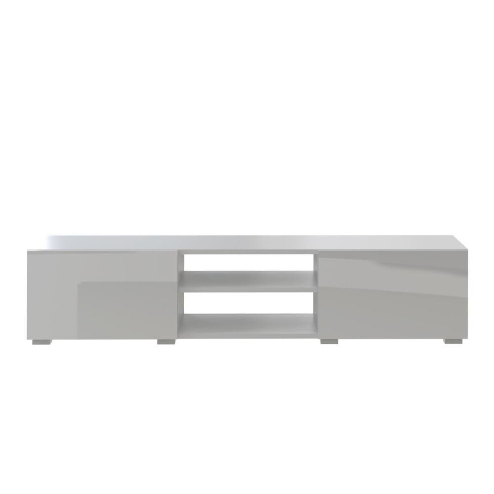 Bílý televizní stolek Symbiosis Jacqueline Deux, šířka140cm