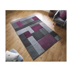 Šedo-fialový koberec Flair Rugs Cosmos Purple, 160 x 230 cm