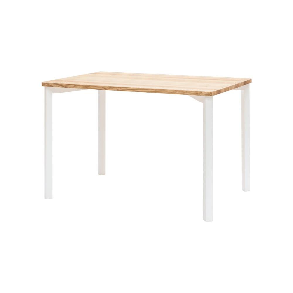 Bílý jídelní stůl se zaoblenými nohami Ragaba TRIVENTI, 80x120cm