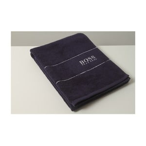 Ručník Hugo Boss Plain 50x100 cm, tmavě modrý