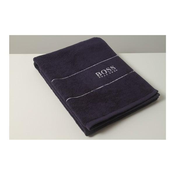 Ručník Hugo Boss Plain 70x140 cm, tmavě modrý