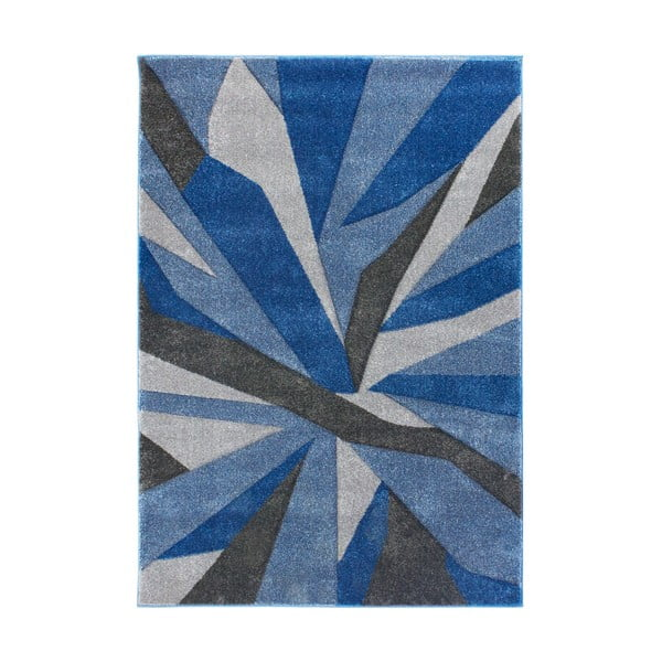 Modrošedý koberec Flair Rugs Shatter Blue Grey, 120x170cm