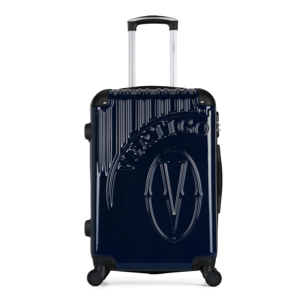 Tmavě modrý cestovní kufr na kolečkách VERTIGO Valise Grand Format Duro, 47 x 72 cm