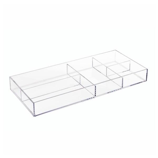 Průhledný organizér iDesign Clarity, 40,6 x 17,8 cm