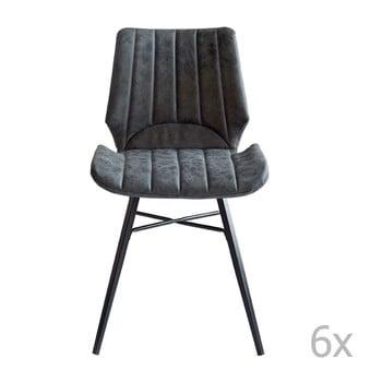 Set 6 scaune RGE Odin, gri de la RGE