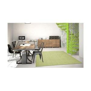 Zelený vysoce odolný koberec vhodný do exteriéru Floorita Braid, 133x190cm