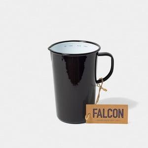 Černý smaltovaný džbán Falcon Enamelware DoublePint, 1,137 l