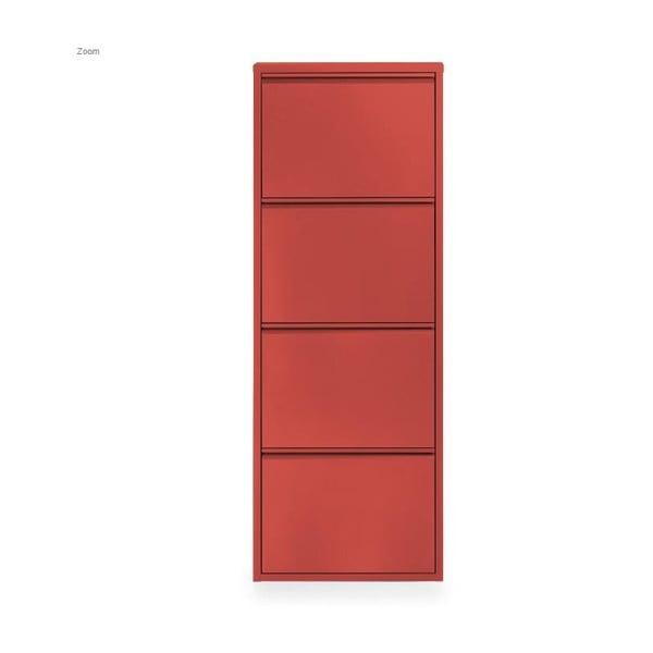 Čtyřdílný botník Zapatero, červený