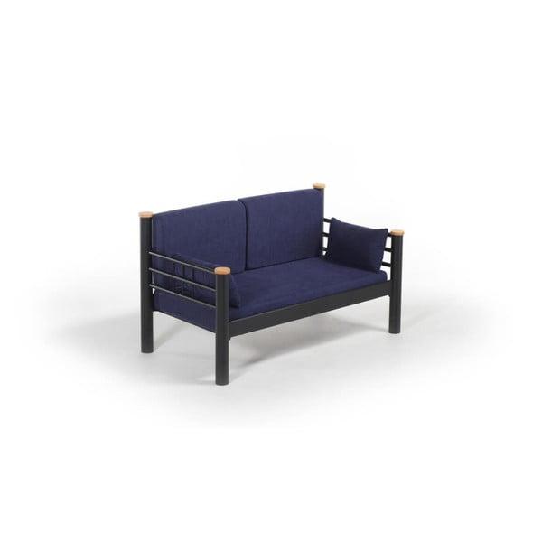Tmavomodrá dvojmiestna vonkajšia sedačka Kappis, 80 × 150 cm