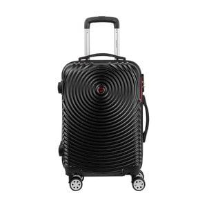 Černé kabinové zavazadlo na kolečkách Murano Traveller, 55 x 34 cm