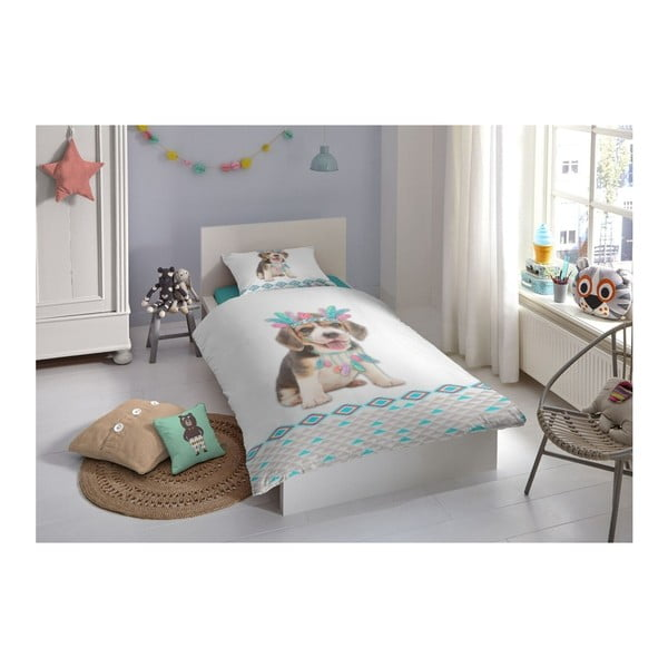 Dětské bavlněné povlečení na jednolůžko Muller Textiels Louis, 140 x 200 cm