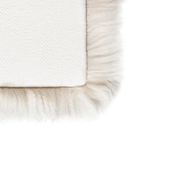 Bílý sedák z ovčí kožešiny na jídelní židli Royal Dream, 40x40cm