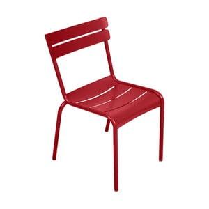 Červená zahradní židle Fermob Luxembourg