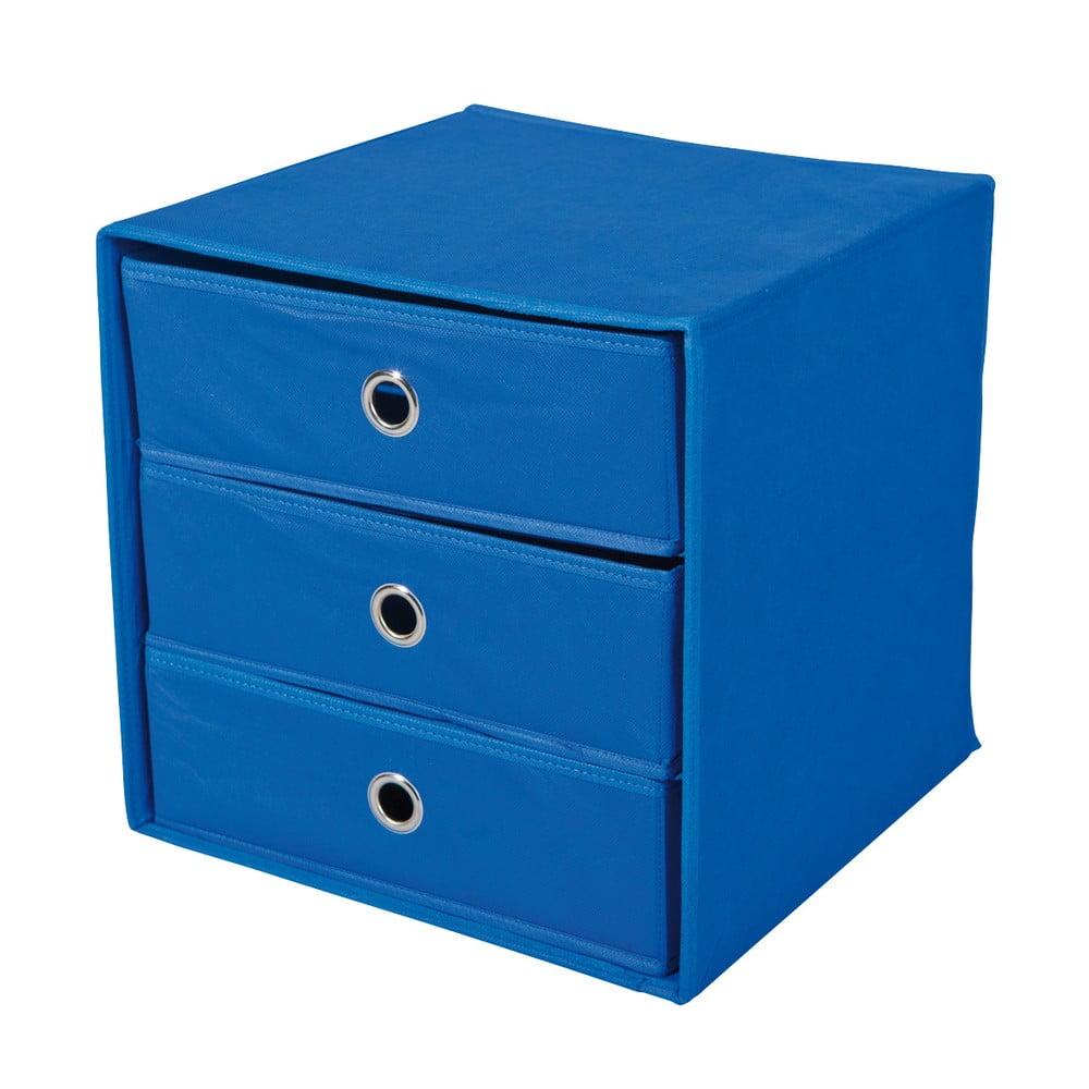 Modrý úložný box se zásuvkami 13Casa Lolly
