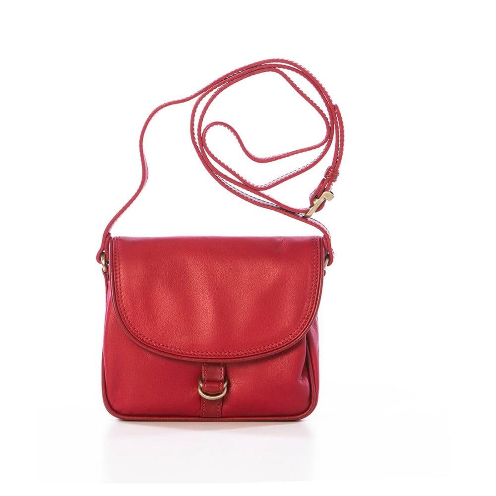 Červená kožená kabelka Gianni Conti Adreanna  4a084b2a733