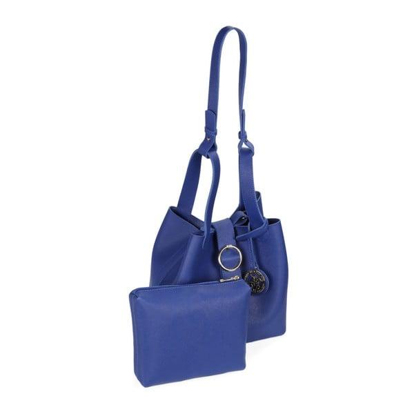 Geantă din piele ecologică Beverly Hills Polo Club Gina, albastru