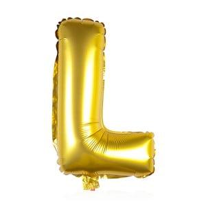 Balónek L zlaté, 30 cm