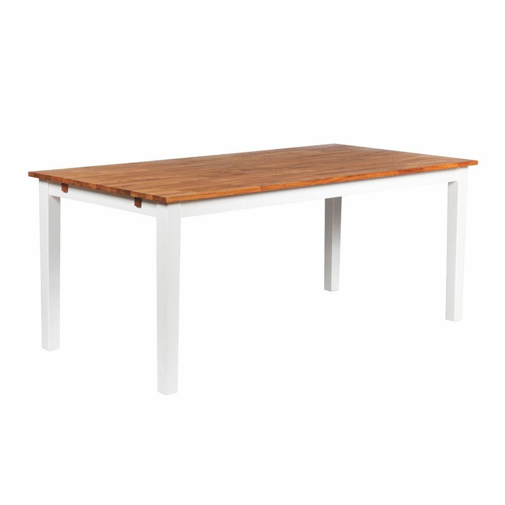 Bílý jídelní stůl z masivního dubového dřeva Folke Finnus, 180x90cm
