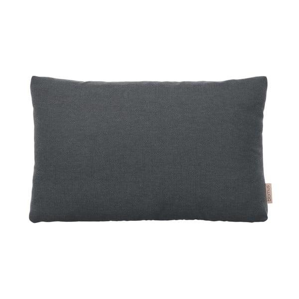 Tmavě šedý bavlněný povlak na polštář Blomus, 60x40cm
