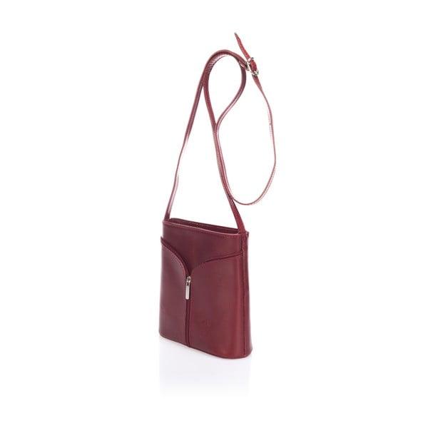 Červená kožená kabelka Giulia Massari Calf Little