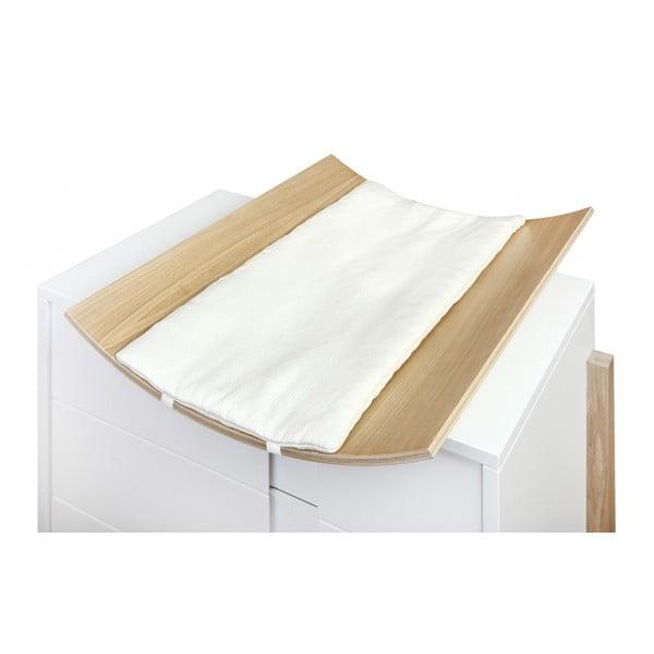 Masă de înfășat din lemn de stejar YappyKids Icon, 65 x 55 cm