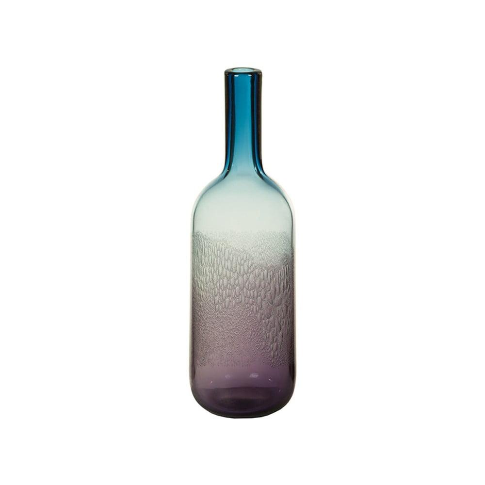 Modrá křišťálová dekorativní váza Santiago Pons Hue, výška38cm