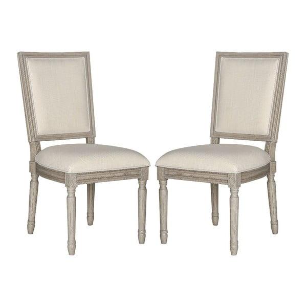 Sada 2 jídelních židlí Light Beige