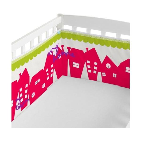 Textilní ohrádka na postýlku Little W My Town, 60x60 cm