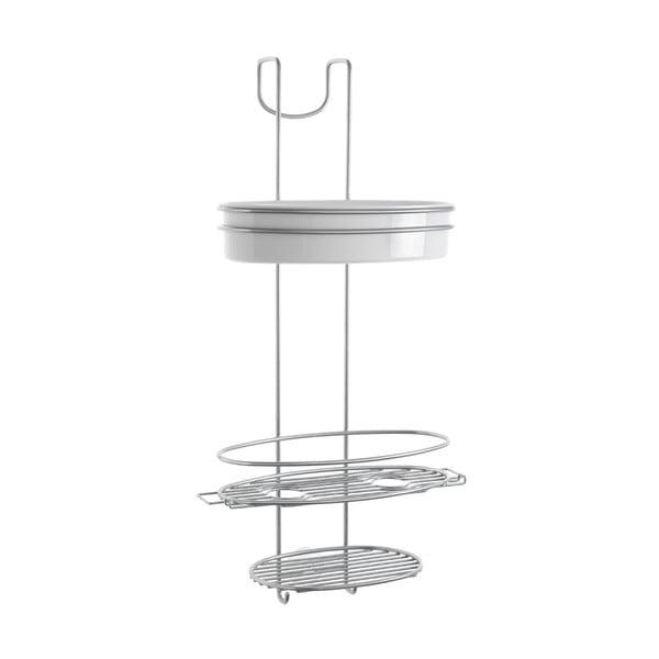 Buttler háromszintes fürdőszobai akasztós polc, magasság 58 cm - Metaltex
