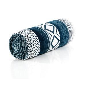 Modrý polštář Oreste Luchetta Yantra Roll Patchwork