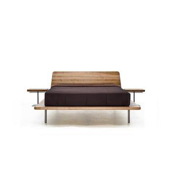 Pat din lemn de frasin tratat cu ulei Mazzivo Letto, 120x200cm
