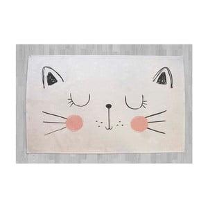 Bavlněný kobereček s kočkou Little Nice Things, 140 x 90 cm