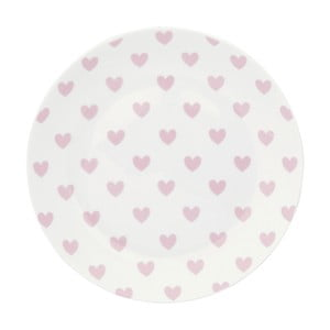 Keramický talíř Miss Étoile Rose Hearts, ⌀ 17 cm
