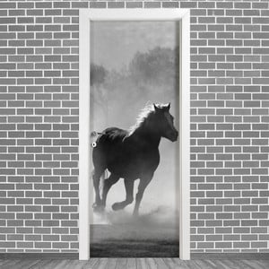 Samolepka na dveře LineArtistica Caballo, 80 x 215 cm