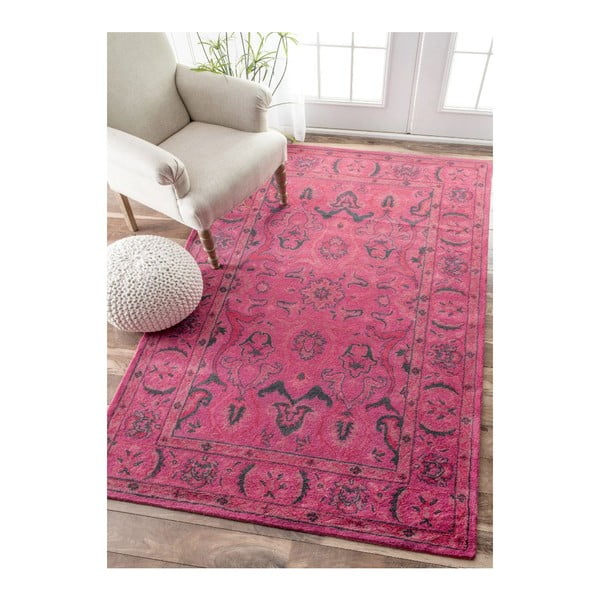 Ručně tuftovaný koberec nuLOOM Pink Punk, 160x228 cm