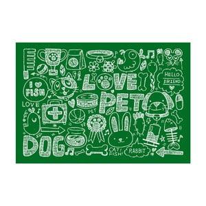 Vinylový koberec Love Pet, 52x75 cm