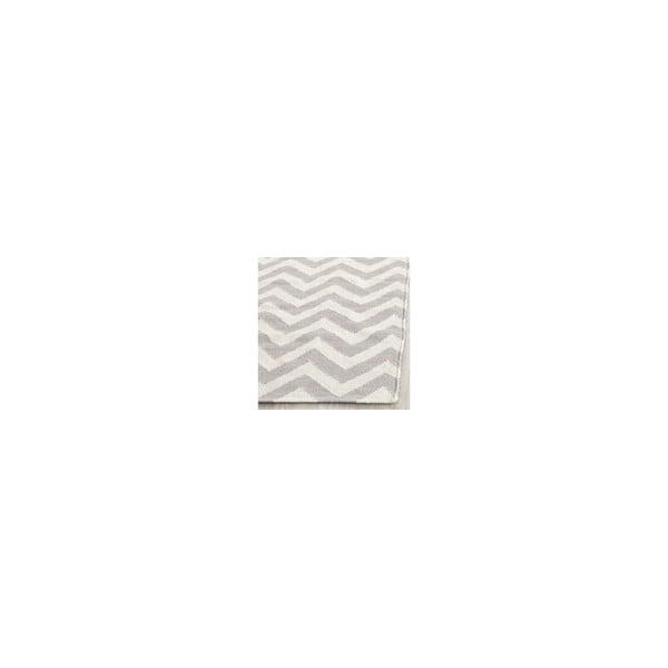 Vlněný koberec Nelli 91x152 cm, šedý