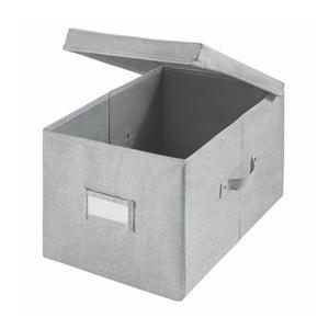 Šedý úložný box iDesign Codi, 43,1 x 29,8 cm