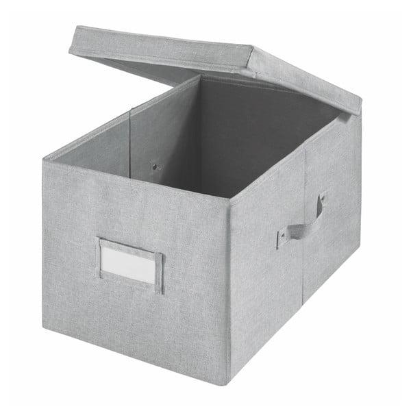 Cutie pentru depozitare iDesign Codi, 39 x 28 cm, gri