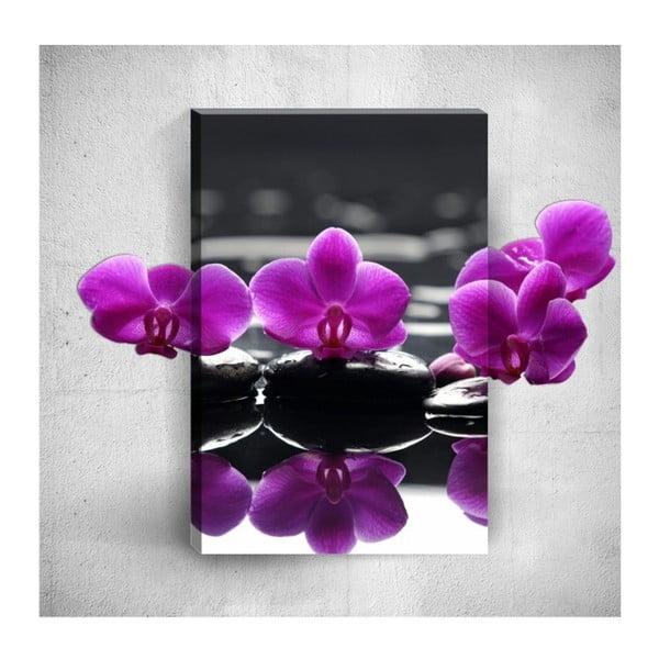 Nástěnný 3D obraz Mosticx Purple Flowers, 40 x 60 cm
