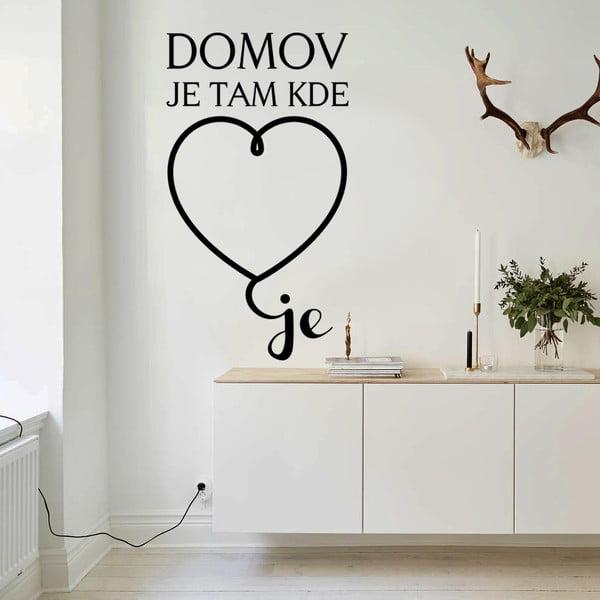 Samolepka na zeď Srdce domova, 70x50 cm
