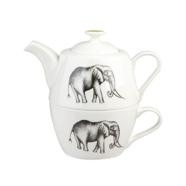 Dznake do herbaty z dużą filiżanką z porcelany kostnej Churhill China Maple, 390 ml